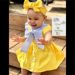 Vintage Cap Sleeve Top and Yellow Suspender Skirt
